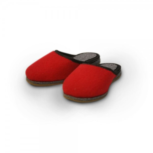 Kinderpantoffel in rot (KiP16)