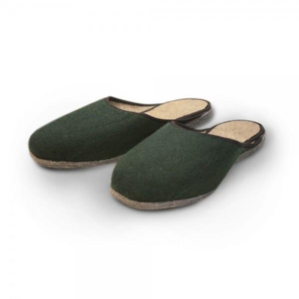 Pantoffel in dunkelgrün (UP21)