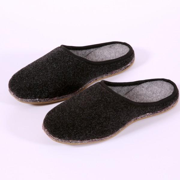 Pantoffel in dunkelgrau (P03)